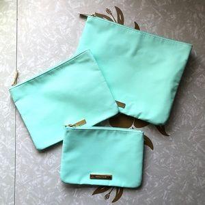 Tartan + Twine Mint Green 3 Piece Make-Up Bag Set
